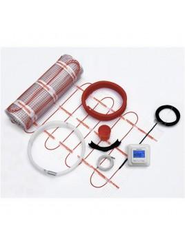 Zestaw ogrzewania podłogowego mata grzejna 0,5x4m 2m2 regulator akcesoria Thermoval
