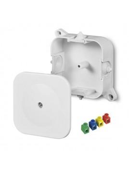 Puszka natynkowa hermetyczna IP42 86x86x35 z wkładem 4x2,5 biała 0214-00 Elektro-Plast