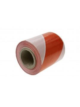 Folia taśma ostrzegawcza biało czerwona szerokość 80mm (opakowanie 100 mb)