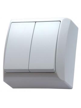 Łącznik podwójny natynkowy IP20 biały ŁN-2B/00 Bis Ospel