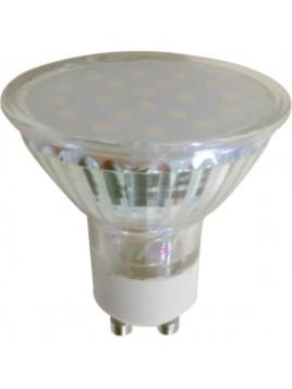 Żarówka LED 3,5W 270lm GU10 6500K 230V obudowa szklana 18SMD2835 Tris
