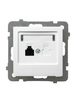 Gniazdo telefoniczne RJ12 pojedyncze białe GPT-1G/m/00 As Ospel