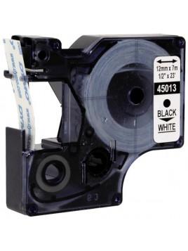 Taśma 12mm do drukarek DYMO czarno-biała 45013 Ergom