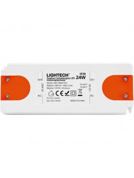 Zasilacz instalacyjny do LED 24W 12DC IP20 Lightech