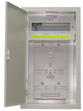 Rozdzielnica licznikowa podtynkowa RL 3F 12 z zamkiem i szybą Elektro-met