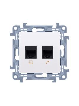 Gniazdo komputerowo-telefoniczne RJ45+RJ12 białe C5T.01/11 Kontakt Simon10