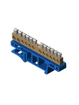 Listwa zaciskowa 12-torowa na szynę TH35 niebieska 0921-00 Elektro-Plast