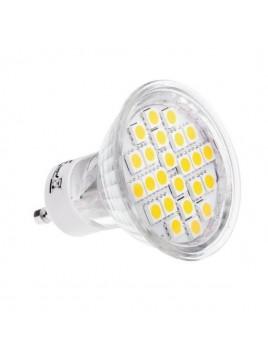 Żarówka LED 4,5W GU10 360lm 6500K 230V 24SMD5050 obudowa szklana Lightech
