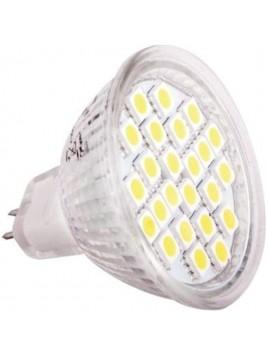 Żarówka LED 4,5W GU5.3 MR16 300lm 3000K 12V 24SMD5050 obudowa szklana Lightech