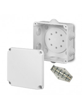 Puszka natynkowa PK-2 hermetyczna IP55 108x108x58 biała wkład 5x4 0221-00 EP-Lux Elektro-Plast