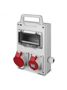 Rozdzielnica siłowa RS przenośna 8-modułowa 1x16A/5P 1x32A/5P 6216-20 Elektro-Plast