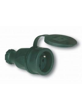 Gniazdo przenośne gumowe z uziemieniem z klapką 16A 230V 2411-sw PCE