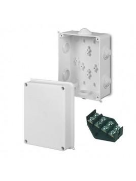 Puszka natynkowa PK-6 hermetyczna IP55 158x118x94 biała wkład 4x16 0228-00 EP-Lux Elektro-Plast