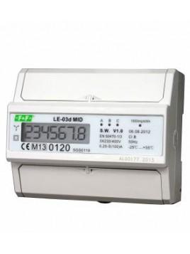 Licznik energii elektrycznej LCD na szynę 3-fazowy 100A MID LE-03d F&F