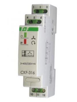 Czujnik kolejności zaniku i asymetrii faz na szynę CKF-316 F&F