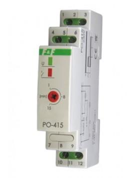 Przekaźnik czasowy na szynę 1P 10A 230V 1 - 15min opóźnione odpadanie PO-415 F&F