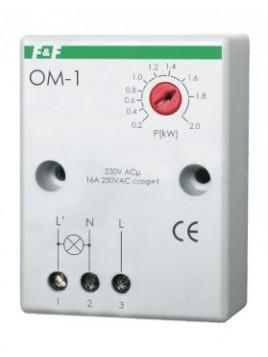 Ogranicznik poboru mocy natynkowy 16A 230V 200-2000W 30 sek OM-1 F&F