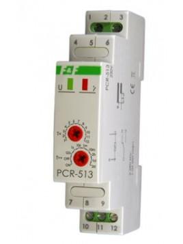 Przekaźnik czasowy na szynę 1P 10A 230V 0,1s - 576h opóźnione załączenie PCR-513 F&F