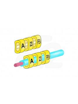 Oznacznik kablowy OZ-1 cyfra 0 żółty (100szt.) Ergom