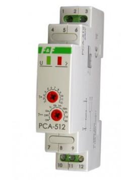 Przekaźnik czasowy na szynę 1P 10A 230V 0,1s - 576h opóźnione wyłączenie PCA-512 F&F