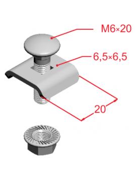 Zacisk śrubowy ZS/ZSO 901600 Baks