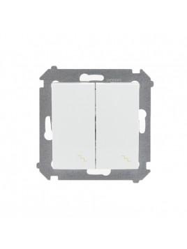 Łącznik schodowy podwójny biały DW6/2.01/11 Kontakt Simon54