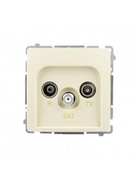 Gniazdo antenowe RTV+SAT końcowe beżowe BMZAR-SAT1.3/1.01/12 Kontakt-Simon Basic
