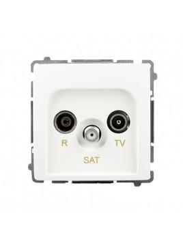 Gniazdo antenowe RTV+SAT końcowe białe BMZAR-SAT1.3/1.01/11 Kontakt-Simon Basic RABATY