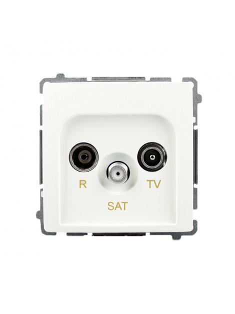 Gniazdo antenowe RTV+SAT przelotowe białe BMZAR-SAT10/P.01/11 Kontakt-Simon Basic