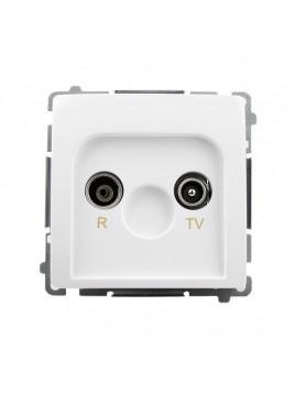 Gniazdo antenowe RTV przelotowe 10dB białe BMZAP10/1.01/11 Kontakt-Simon Basic RABATY