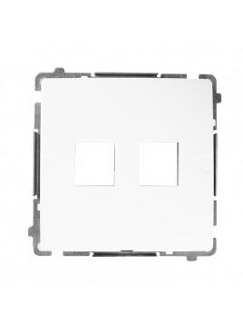 Pokrywa gniazda podwójnego RJ12/RJ45 biała BMPT/11 Kontakt-Simon Basic
