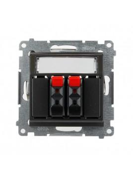 Gniazdo głośnikowe podwójne antracytowe DGL32.01/48 Kontakt Simon54