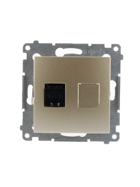 Gniazdo komputerowe RJ45 pojedyncze złoty mat D61.01/44 Kontakt Simon54