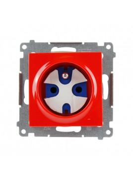 Gniazdo pojedyncze z uziemieniem data z kluczem czerwone DGD1.01/22 Kontakt Simon54 RABATY