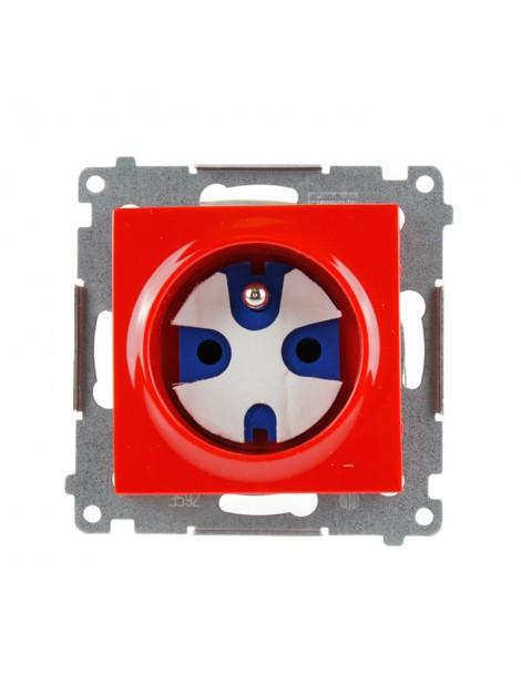 Gniazdo pojedyncze z uziemieniem data z kluczem czerwone DGD1.01/22 Kontakt Simon54