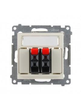 Gniazdo głośnikowe podwójne kremowe DGL32.01/41 Kontakt Simon54