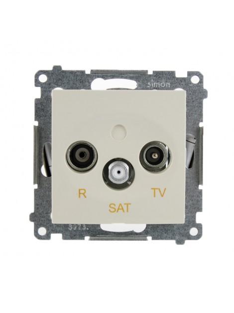 Gniazdo antenowe RTV+SAT końcowe kremowe DASK.01/41 Kontakt Simon54