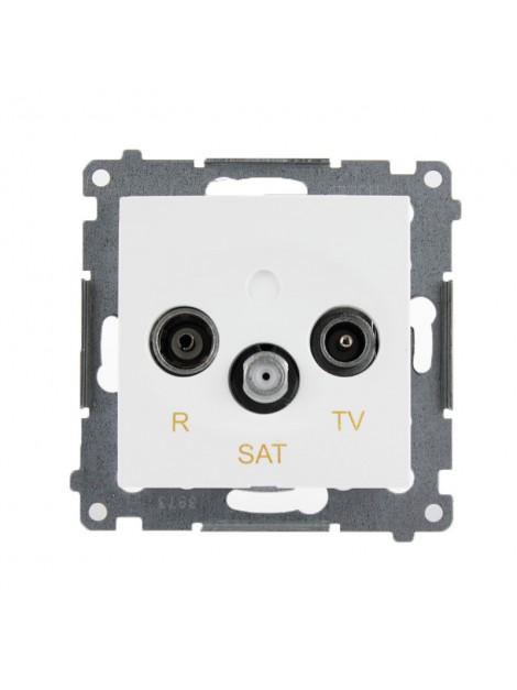 Gniazdo antenowe RTV+SAT końcowe białe DASK.01/11 Kontakt Simon54