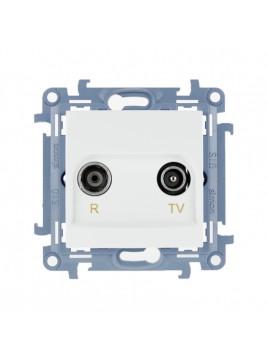 Gniazdo antenowe RTV przelotowe 10dB białe CAP10.01/11 Kontakt Simon10