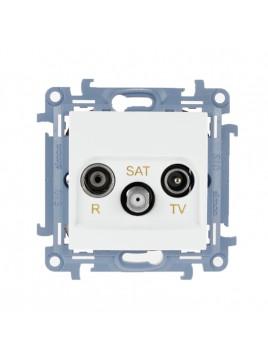 Gniazdo antenowe RTV+SAT końcowe białe CASK.01/11 Kontakt Simon10