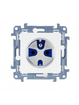 Gniazdo pojedyncze z uziemieniem data z kluczem białe CGD1.01/11 Kontakt Simon10