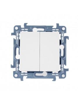 Łącznik podwójny podświetlany biały CW5BL.01/11 Kontakt Simon10