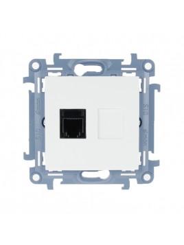 Gniazdo telefoniczne RJ12 pojedyncze białe CT1.01/11 Kontakt Simon10