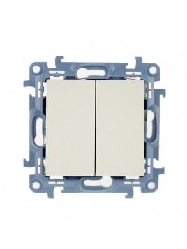 Łącznik podwójny podświetlany kremowy CW5BL.01/41 Kontakt Simon10