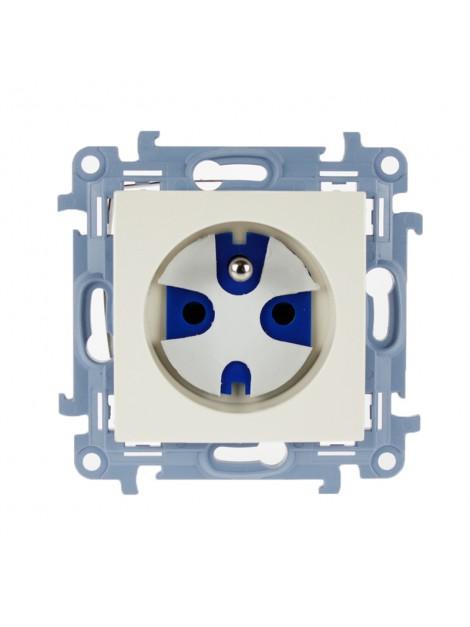 Gniazdo pojedyncze z uziemieniem data z kluczem kremowe CGD1.01/41 Kontakt Simon10