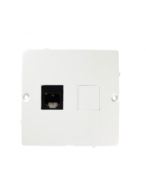 Gniazdo telefoniczne RJ11 pojedyncze białe BMTF1.02/11 Kontakt-Simon Basic
