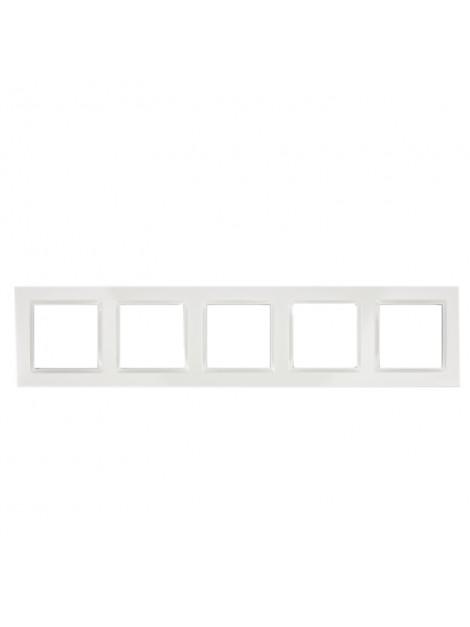 Ramka pięciokrotna biała CR5/11 Kontakt Simon10
