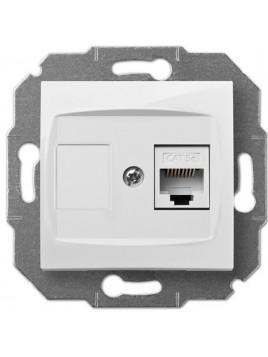 Gniazdo komputerowe RJ45 pojedyncze białe 1748-10 Carla Elektro-Plast