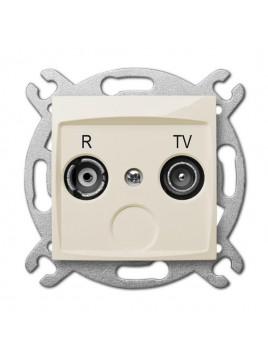 Gniazdo antenowe RTV końcowe kremowe 1752-11 Carla Elektro-Plast