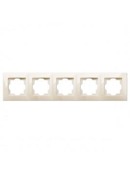 Ramka pięciokrotna kremowa 1775-01 Carla Elektro-Plast